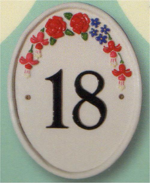 ヴィンテージブルーム・ナンバーサイン W17.7cm x H22.8cm