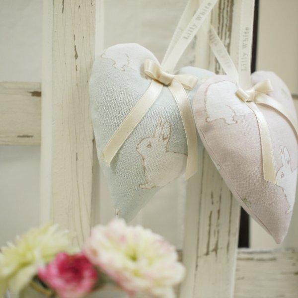 Lilly White Designs -Rabbit & Clover- garden green リリィホワイト・ラビット&クローバー(ガーデングリーン)コットン生地