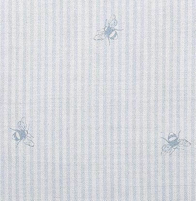 在庫限り*Peony & Sage -Bee Pinstripe- Powder Puff Blue ピオニー&セージ *ストライプ・ビー* パウダーパフブルー 生地