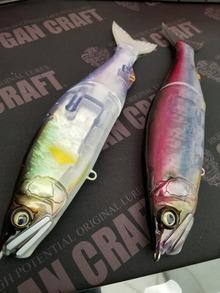 左から★#09フェード鮎、★#10紫影魚。