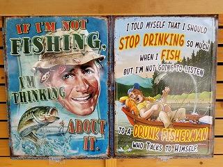 左から#2721 IF I'M NOT FISHING、STOP DRANKING。