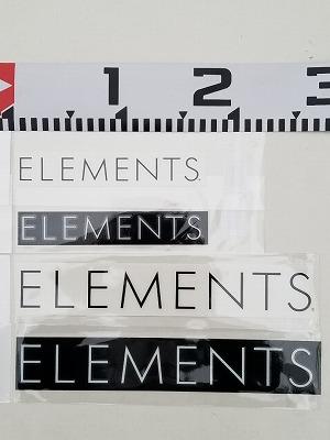 上から160mmの文字がブラック、ホワイト。260mmの文字がブラック、ホワイト。