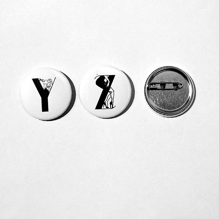 26 Moji Badge  (MANUAL×喜多村なめろう)
