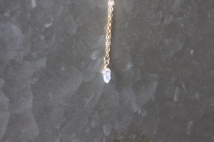 ハーキマーダイヤモンドのミニマムネックレス5