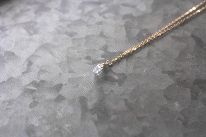 ハーキマーダイヤモンドのミニマムネックレス4