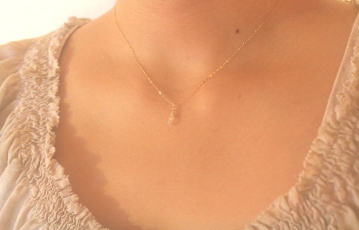 ハーキマーダイヤモンドのミニマムネックレス3
