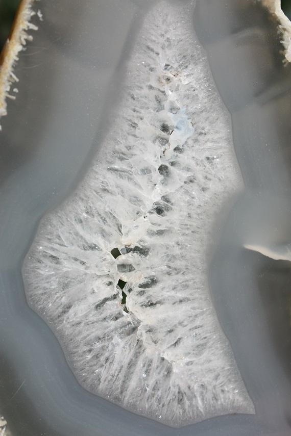 中心部の水晶質の部分