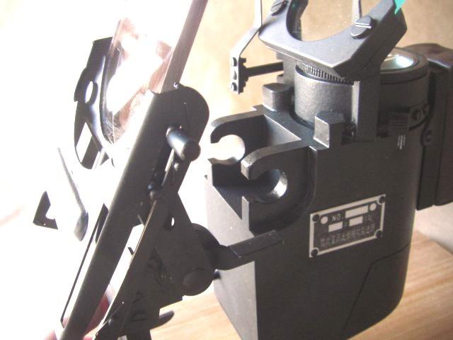 機体取り付け部分と本体部分の着脱(この画像は4式射撃照準器1/1(定価99,750円)の物です)