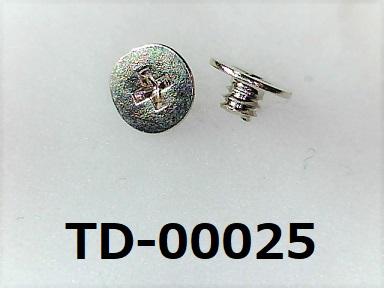 <p>材質:鉄<br>焼き:有 <br>サイズ:太さ1.4ミリ × 長さ1.3ミリ<br>頭部の溝:プラス<br>表面処理:銅下ニッケル</p><p><br></p>
