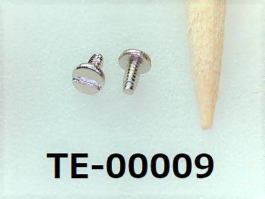 <p>材質:鉄<br>焼き:無 <br>サイズ:太さ0.6ミリ × 長さ1.3ミリ<br>頭部の溝:マイナス</p><p>頭径1.4ミリ 頭高0.3ミリ<br>表面処理:ニッケル</p>