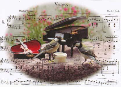 楽譜だけ合成しています。シジュウカラのペア