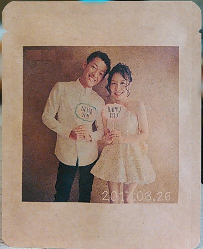 結婚式のプチギフト(お客様のデザイン例3)