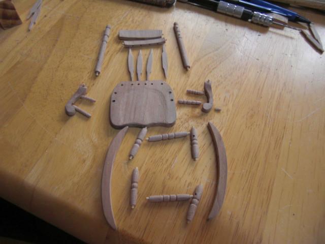 ロッキングチェアー組み立てる前の画像