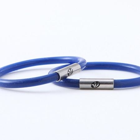 足首用シリコン製健康リング 青色
