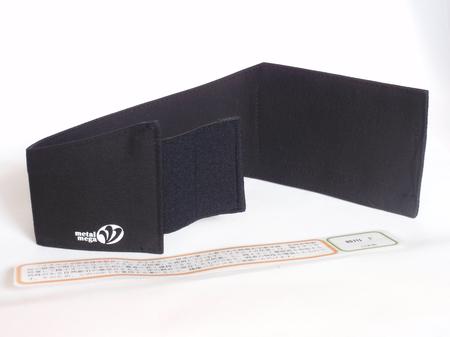 ひざ用布製 特許 健康ベルト(黒 )1本単位