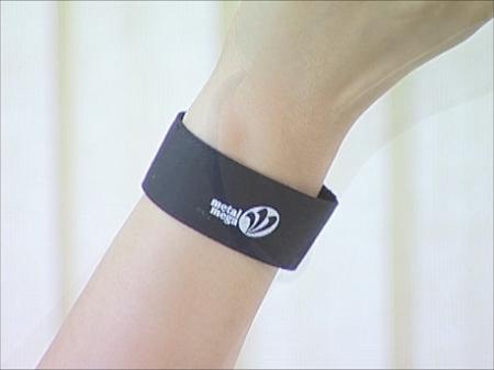 手首用布製 特許健康ベルト 装着例 黒