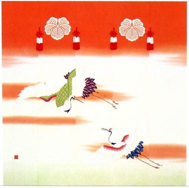 二羽鶴 本染め クリックすると大きい画像が見られます。