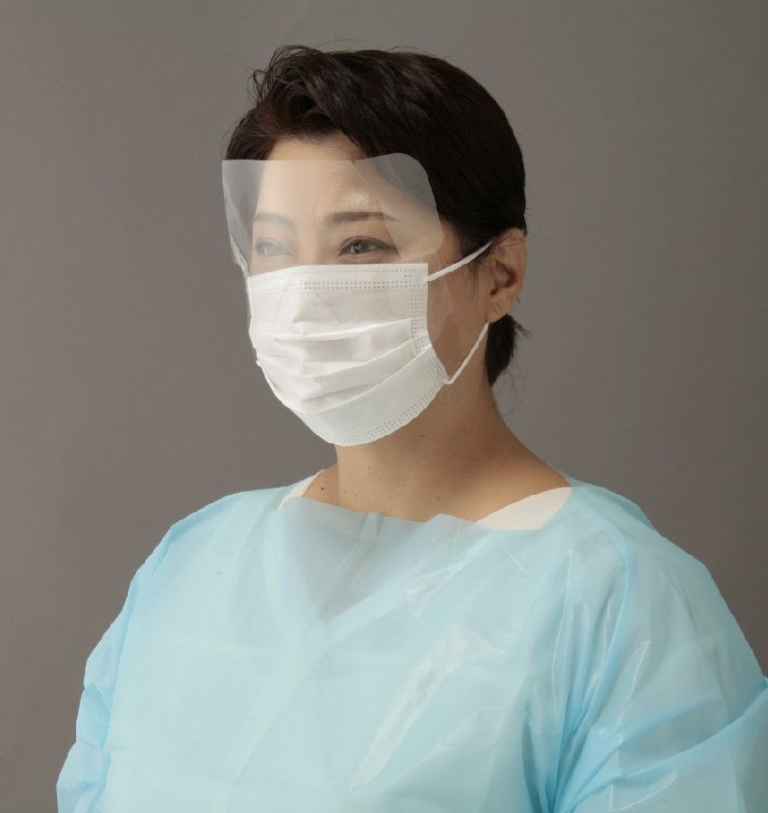 口鼻目の粘膜への菌やウイルスの侵入を予防するアイガードとマスク