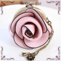 薔薇(ばら)のがま口【ピンク】(バッグチャーム)