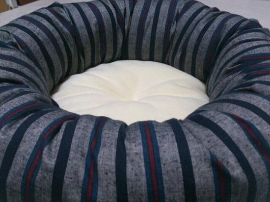 猫ベッド【灰/縞】