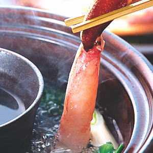蟹しゃぶが手軽に楽しめますよー