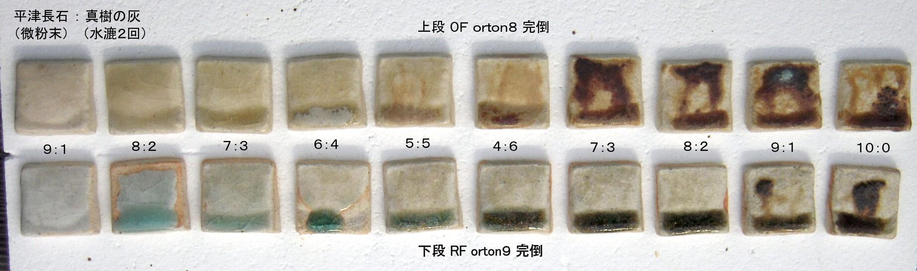 焼成テストピース