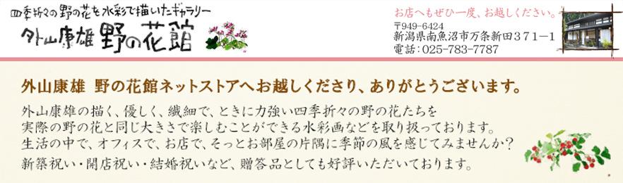 外山康雄 野の花館オンラインショップ