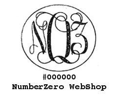 #000000 NumberZero Web Shop