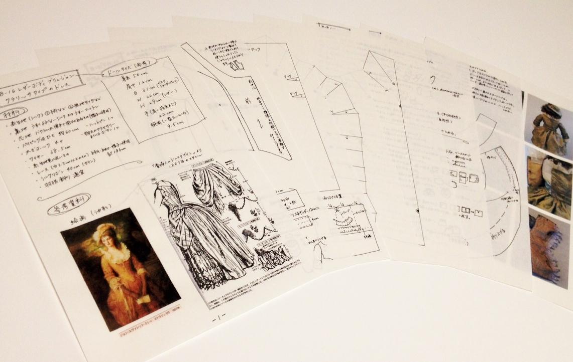 商品は実物大の型紙と作り方7ページ+参考写真です