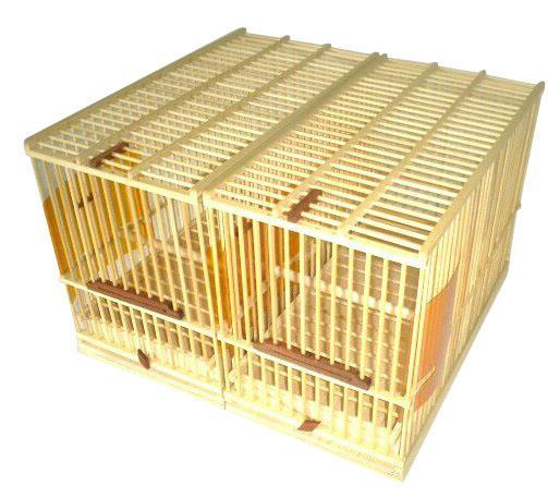 小鳥が一番落ち着く定番の竹製鳥カゴです。鳥を飼う上での様々なアイデアが詰まっています  尺 155×300×214mm ヒガラ、シジュウカラ、メジロ、十姉妹、キンカ鳥など小さい鳥