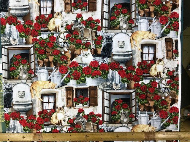 布「窓際の猫 」リアルプリント<br><br>綿100% 約110cm幅 30cm以上10cm単位でお切りします。<br>価格は、10cmの値段です。<br>シーチングくらい普通の厚さです。<br><br>店頭でも販売しています。在庫数は、実際の数字とは異なる場合があります。<br>ご了承ください。