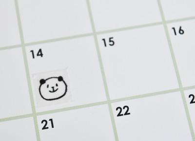 カレンダーや手帳にも
