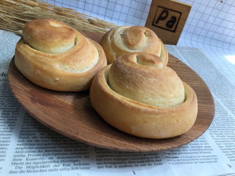 グルグル渦巻きのかわいいパンです