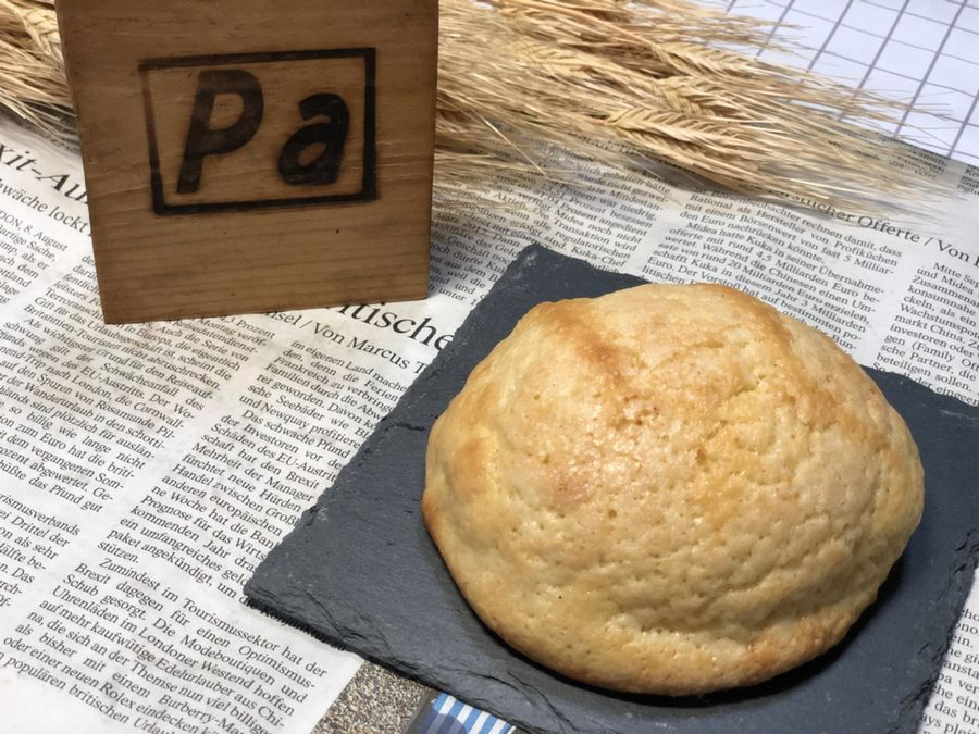 みんな大好きなメロンパン。メロンの生地がサクサクしていて少し硬めのパン生地とも相性抜群