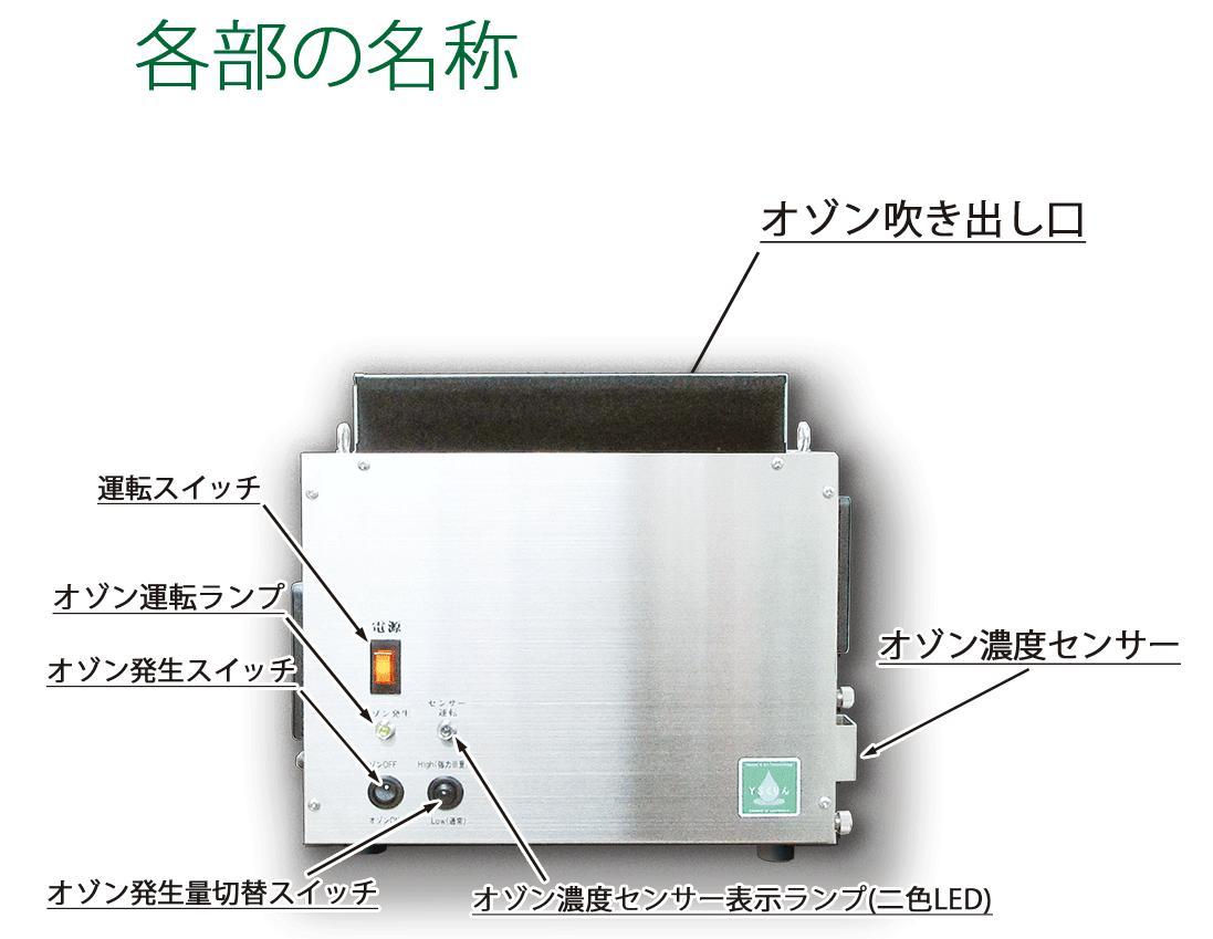 回転電極発生体使用のためメンテナンスが非常に楽です