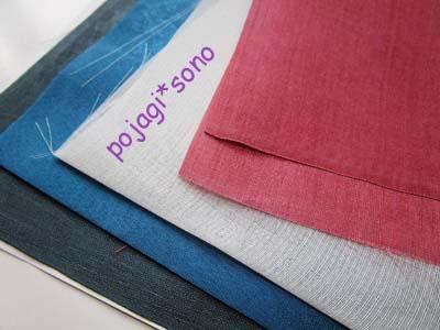 渋めのピンク+明るい青~グレー