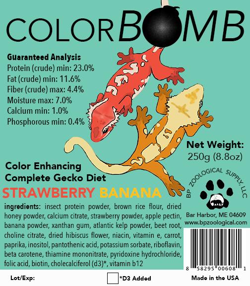 Colorbomb (天然色素配合、ストロベリー・バナナ) 250g (8.8oz)  ¥ 2,300