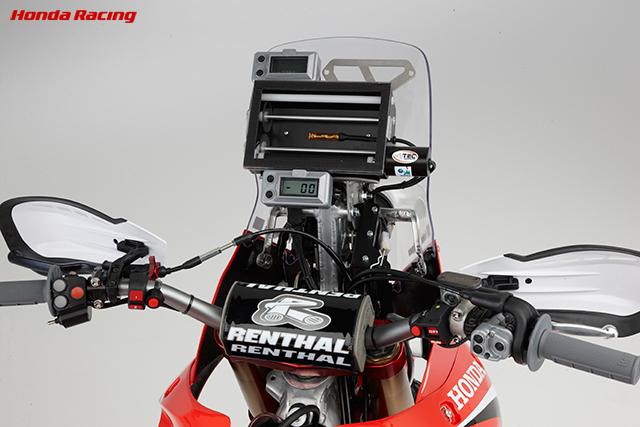 Dakarを走ったCRF450Rallyに装着されています。
