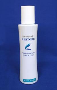 <b>頭皮回復と育毛を兼ねたプレケアに</b><br>ケアローションSは炎症やうっ血などの症状を鎮静化する、育毛の前段階に使うものです。