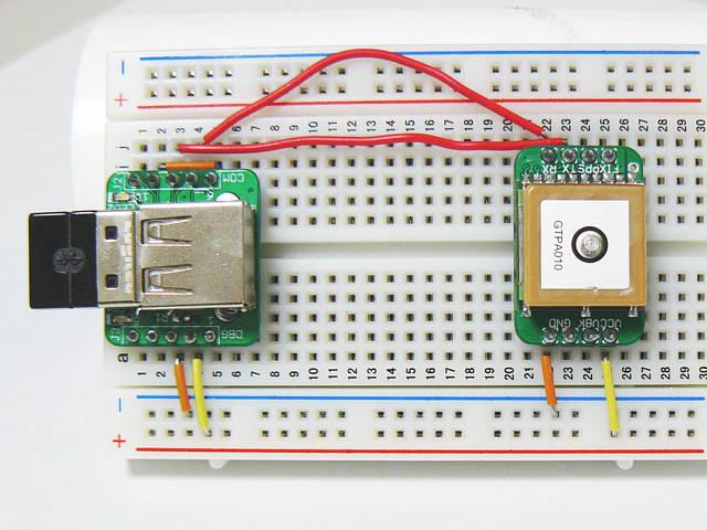 SBDBTと組み合わせると簡単にbluetooth対応GPSモジュールが作れます