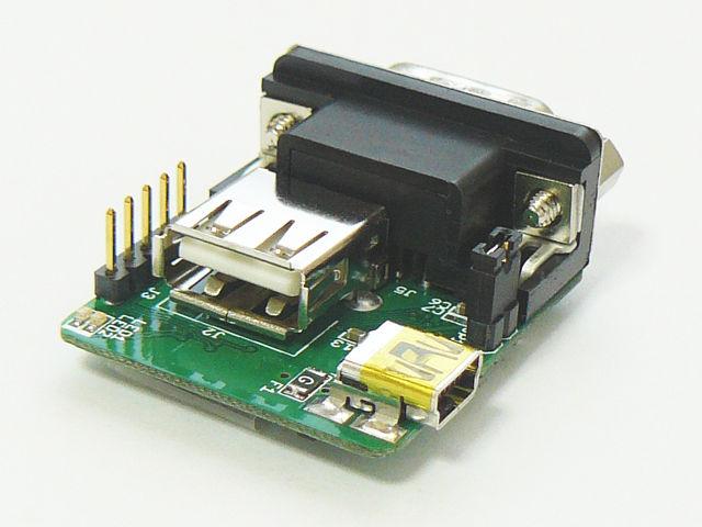 USB Aタイプコネクタと、電源供給用Mini-Bコネクタが搭載されています