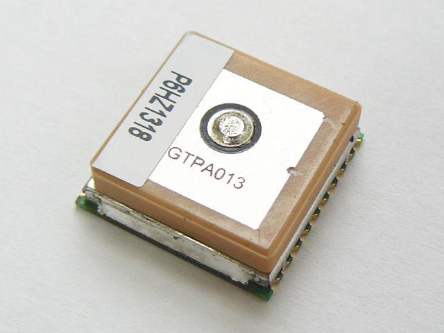 GlobalTopのGPSモジュールPA6Hです。<br>アンテナを内蔵していますが、外部アンテナを接続することもできます。