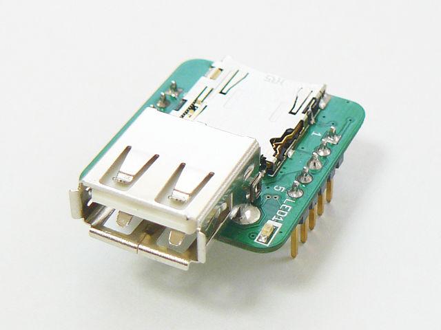 USBタイプAコネクタが実装されています。