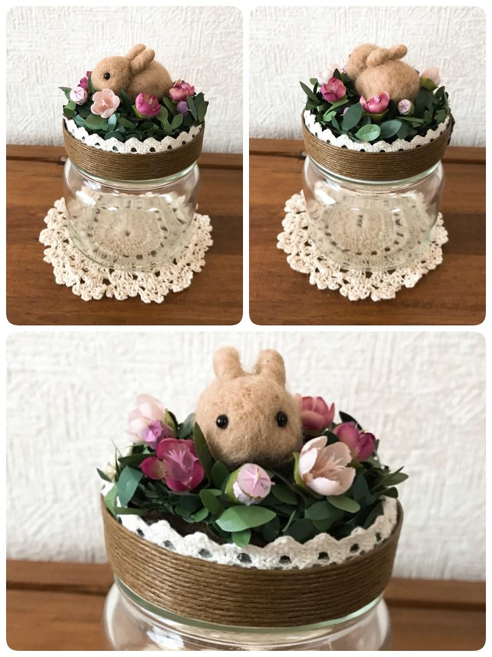 A)ピンク系のお花畑