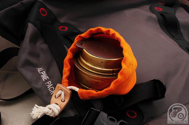 トランギア アルコールバーナー TRB25 用の収納袋です。<br />