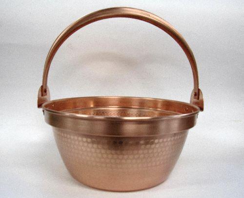 銅製 鎚目入 山菜鍋 30cm