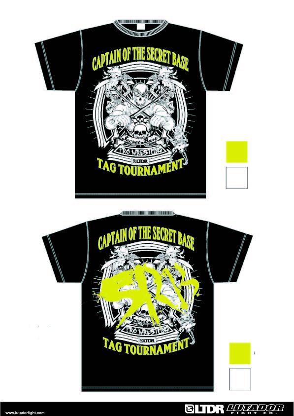 初代タッグ王座決定トーナメントTシャツのイエローグリーンカラーVer.