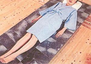 SGE天降石加工原石プレート30cm角:使用例【岩盤ベッド】