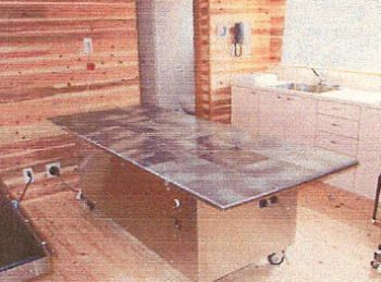SGE天降石加工原石プレート 本磨きタイル・30cm角使用 原石ベッド