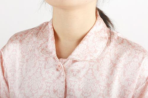 ピンク首アトピーや汁をガードする襟付きで安心♪